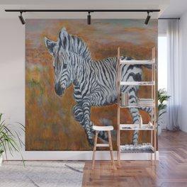 Zebra Freedom by Marianne Fadden Wall Mural