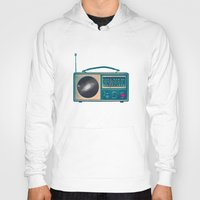 radio Hoodies featuring Space Radio by Victor Vercesi