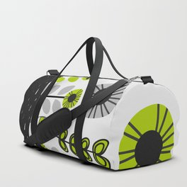 Sleepy cat and floral bouquet Duffle Bag