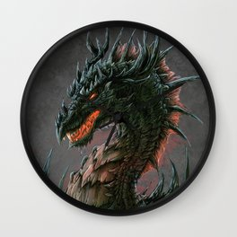 Regal Dragon Wall Clock