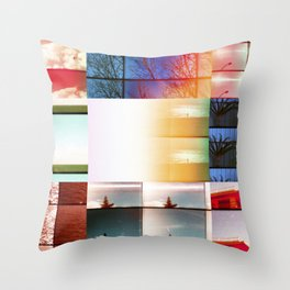 A deep desire to change the immediate present Throw Pillow