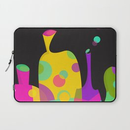 Colorful Funky Bottle Shapes II Laptop Sleeve