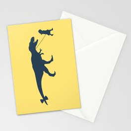 Walking my beast Stationery Cards