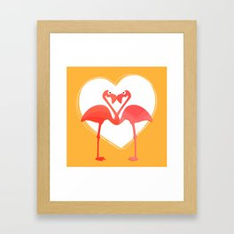 lovebirds - flamingos in love Framed Art Print