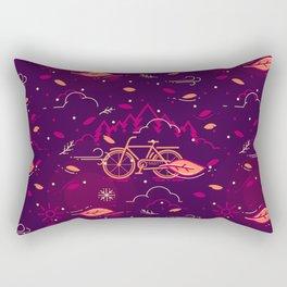 Cycling at Windy Night Rectangular Pillow