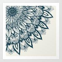 mandala Art Prints featuring Mandala by rskinner1122