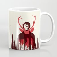 hannibal Mugs featuring Hannibal by Risa Rodil