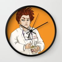 oitnb Wall Clocks featuring Red OITNB by StephDere