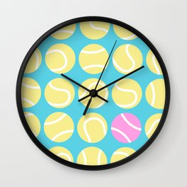 A Pink Tennis Ball in the Rough Wall Clock