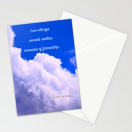 """Clouds #73"" Photo with poem: Love Is #4 Stationery Cards"
