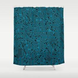 Reboot BLUE Shower Curtain
