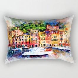 Watercolor painting pier Rectangular Pillow