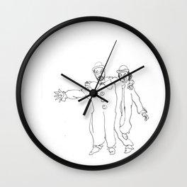 Clown Parents Wall Clock