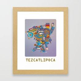 Tezcatlipoca De La Noche Framed Art Print
