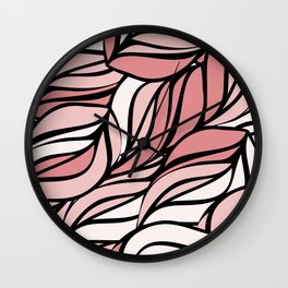 Coral seawing Wall Clock