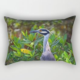 Yellow-crowned Night Heron Rectangular Pillow