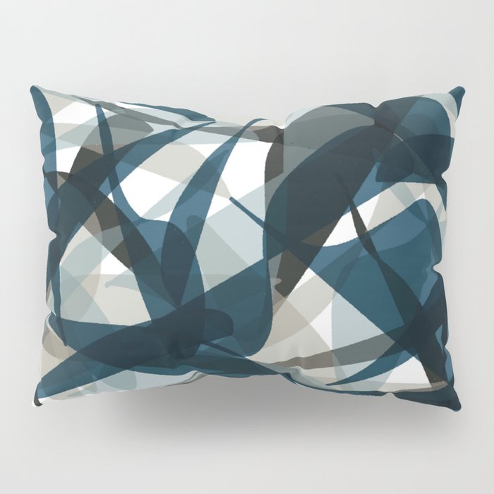 Abstract Whale Monotone Pillow Sham