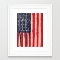 america Framed Art Prints featuring America  by Matt Pecson