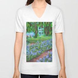 Monet's Garden AC20110715a Unisex V-Neck