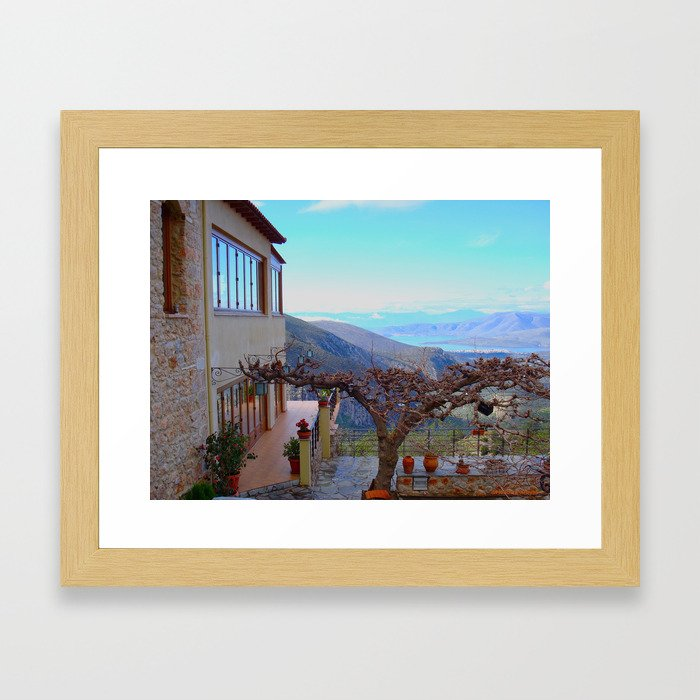 Delphi Valley, Greece  Framed Art Print