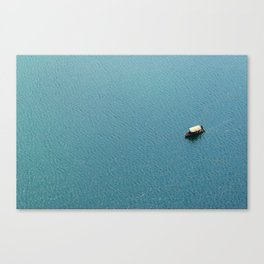 Pletna Boat at Lake Bled, Slovenia - Slovenija Canvas Print