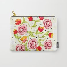 Polka dot posies Carry-All Pouch