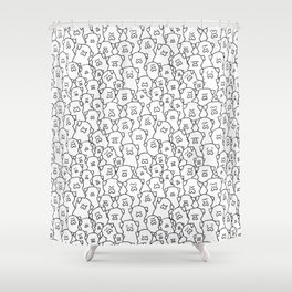 Pugs Grumble Shower Curtain
