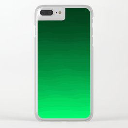 Happy Bright Apple Green Ombre Clear iPhone Case