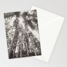 Forest Sky - Black and White Tree Sky Stationery Cards