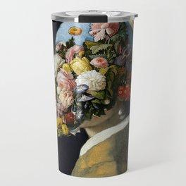 Flowers in Vermeer Travel Mug