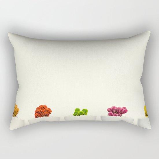 Creamy Cactus Colors Cuteness Cups Rectangular Pillow
