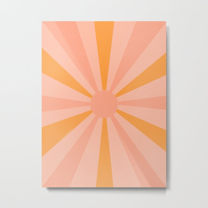 pink and orange sunshine Metal Print