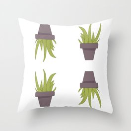 Aloe Plant Pattern Throw Pillow