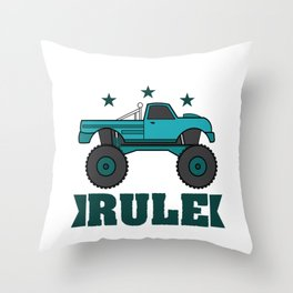 """Monster Trucks Rule"" luxurious and glorious inspired tee design for rider like you! Throw Pillow"