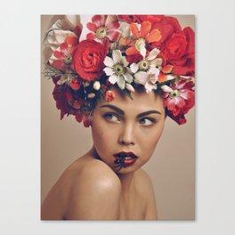 flower-girl Canvas Print