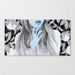 Seven blues  Canvas Print