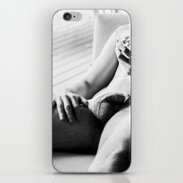 Male Relaxed with Drink iPhone Skin