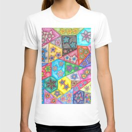 Stained Glass Flowers T-shirt