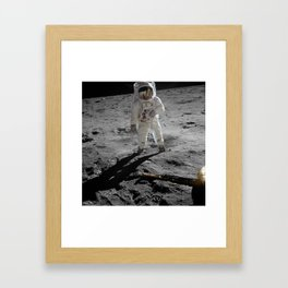 Astronaut Buzz Aldrin Apollo 11 original Photograph 1969 Standing on The Moon Print Framed Art Print