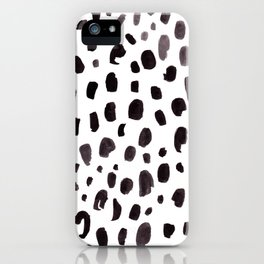 Dalmation Spots Painted Watercolor Pattern iPhone Case