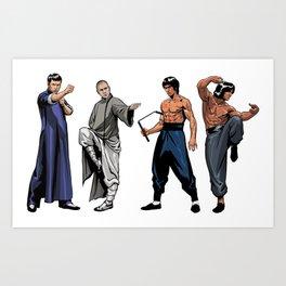 Kung Fu Legends Art Print