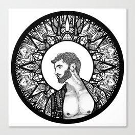 Halo Man Canvas Print