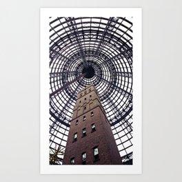Melbourne Central Art Print