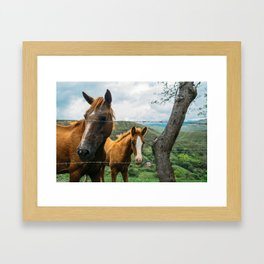 Mother and Daughter (Colombia) Framed Art Print