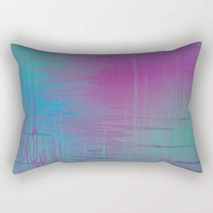 Purple Rainstorm Rectangular Pillow