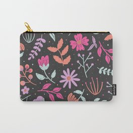neon pastel flowers Carry-All Pouch