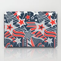 patriotic iPad Cases featuring Patriotic Pattern by Aron Gelineau