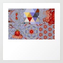 Strawberry MIRROR remix. Art Print