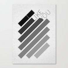 I Like You Graphik: Alternate Canvas Print
