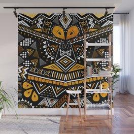 Tribal Festival Noir Wall Mural